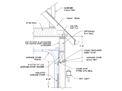 Medeek design inc 2x6 framing for Garage door framing detail
