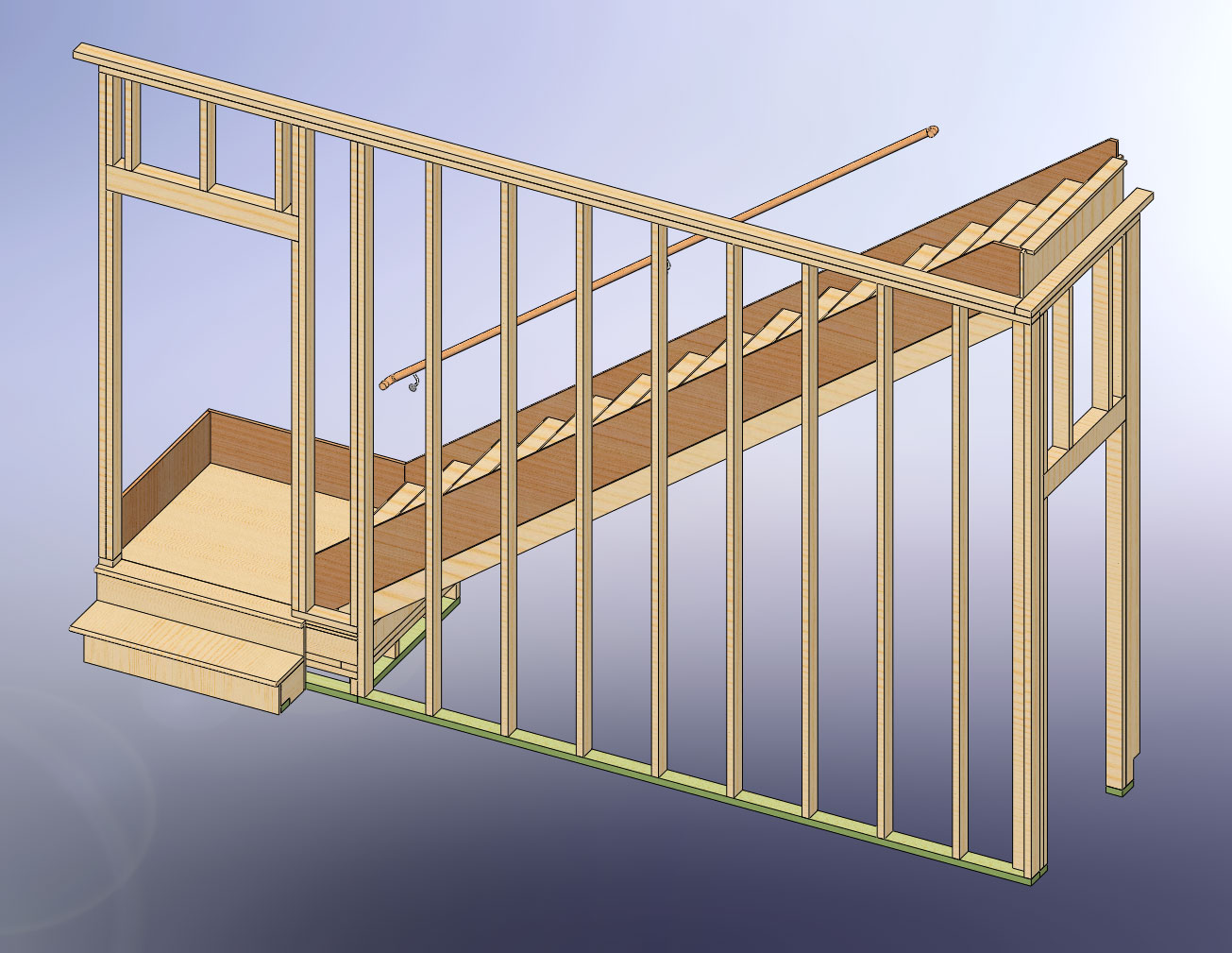 48x28 garage with attic and six dormers - Attic houses with exterior stairs ...