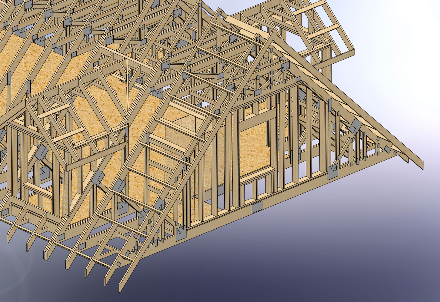 How do you frame stairs with attic trusses?
