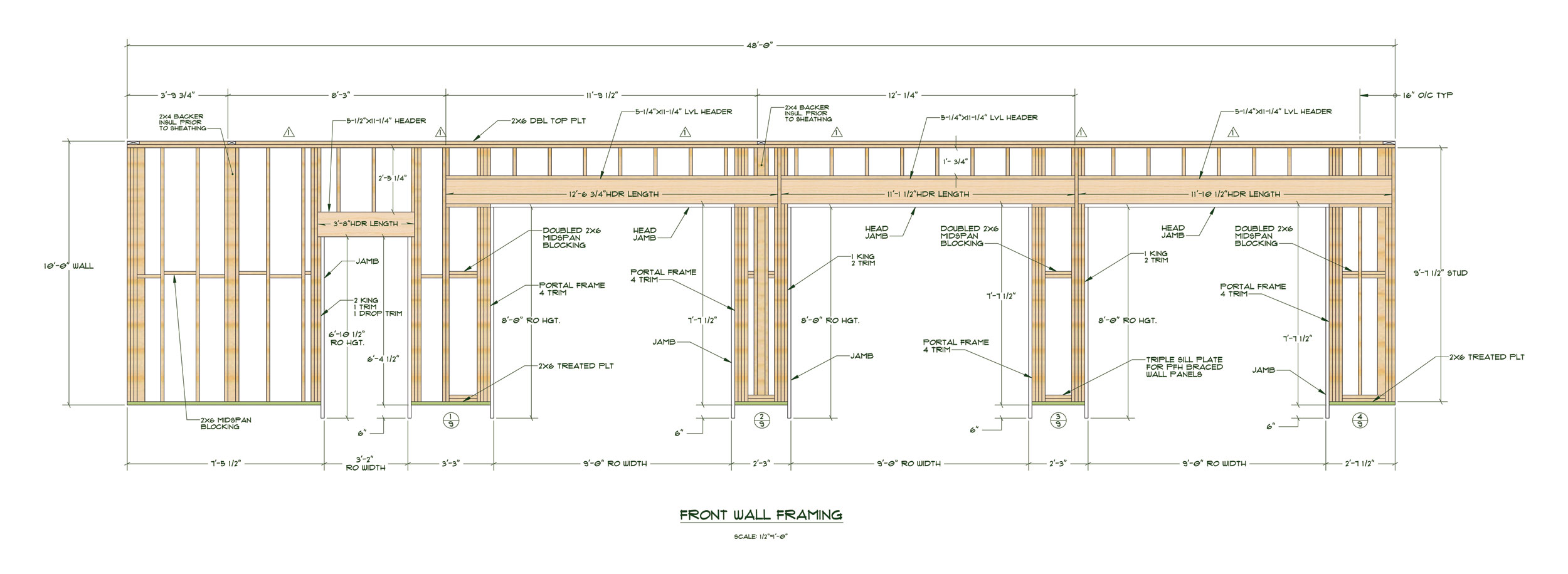 garage door framing detail quotes