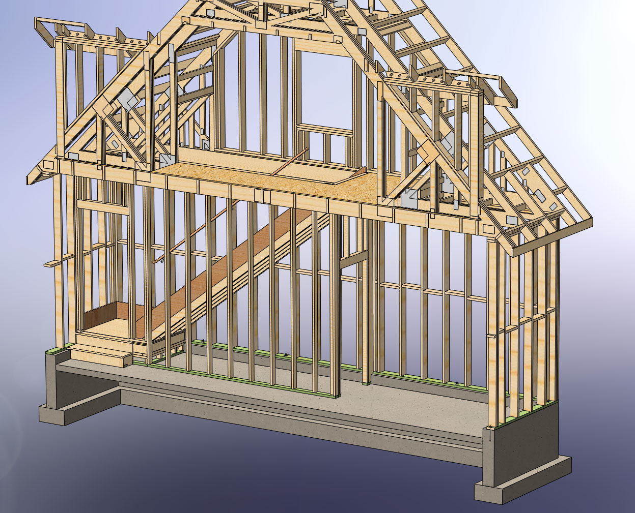One Car Garage Apartment Plans 48x28 Garage With Attic And Six Dormers