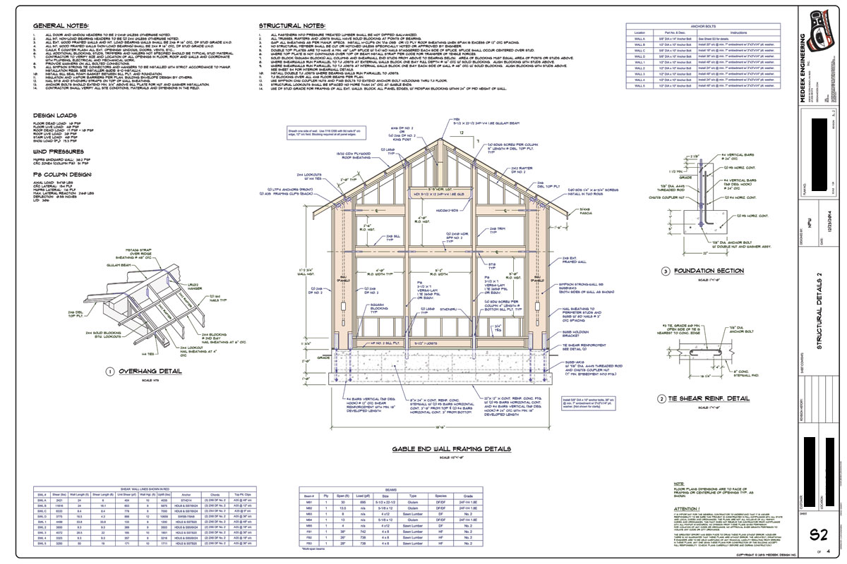 re wood shear wall software or spreadsheets - Wood Framing Details