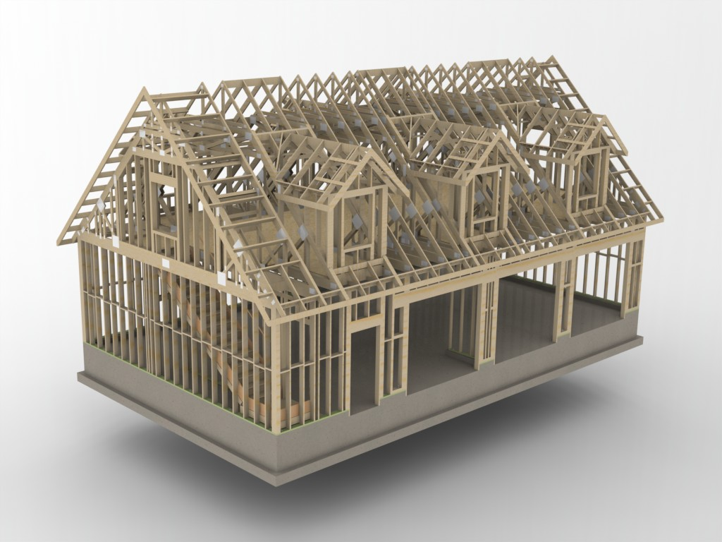 2nd Floor Framing Plan Woodworks And Attic Trusses Structural Engineering Other