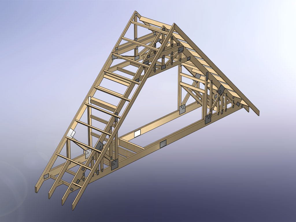 How do you frame stairs with attic trusses for Country plans com