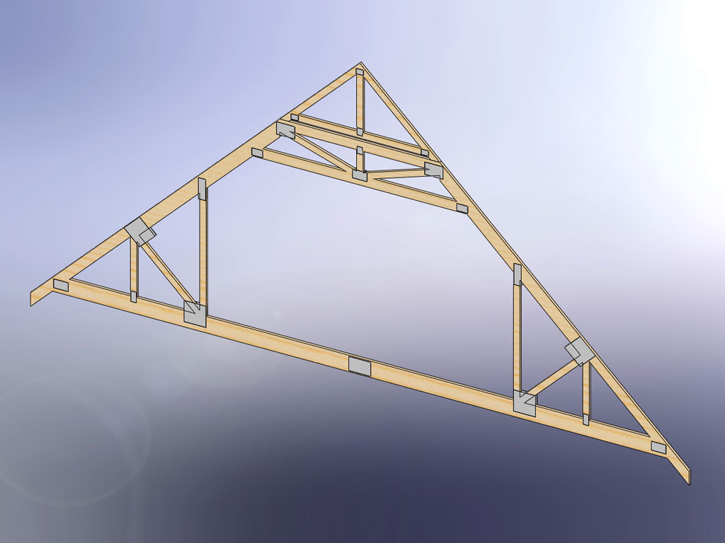 Decorative gable truss for Bonus room truss design