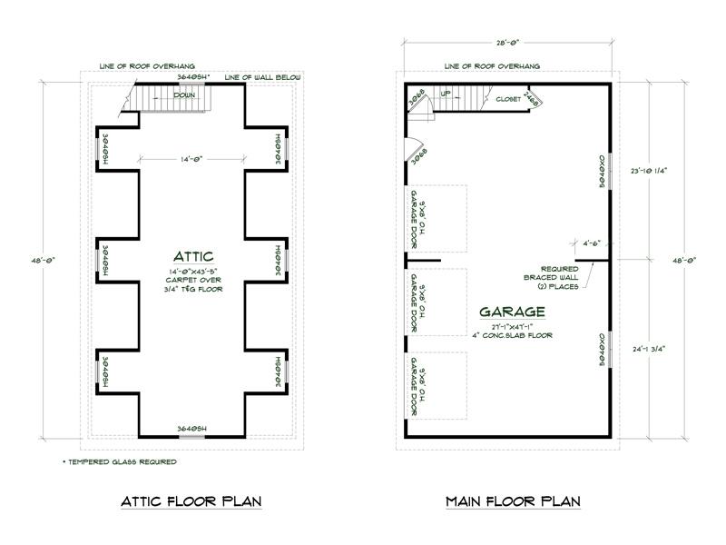 marvelous large garage plans #5: Plan No.