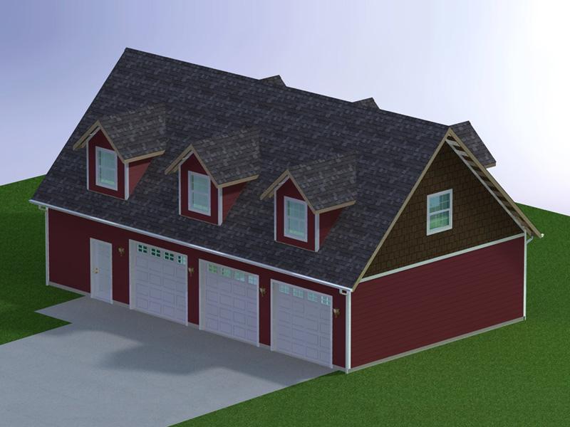 48 x 28 three car garage with attic 6 car garage plans