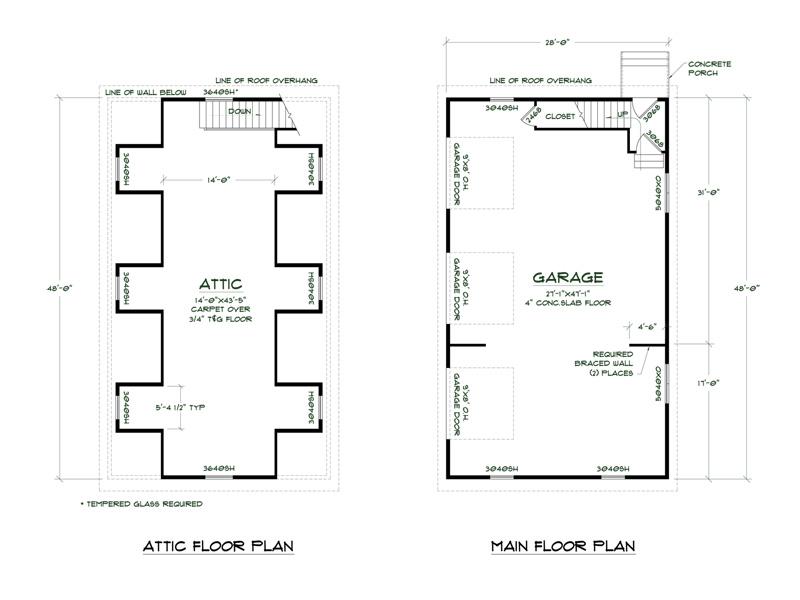 Simple Detached Garage Floor Plans Placement Home Plans
