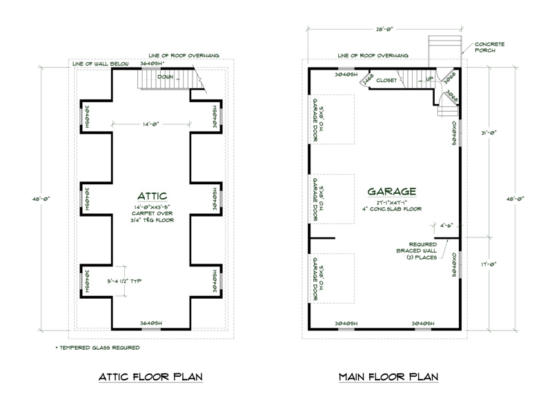 Simple detached garage floor plans placement home plans for Basic garage plans