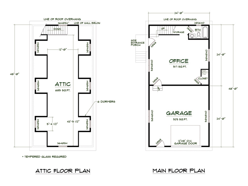Medeek design plan no shop4824 a6db for Shop floor plans