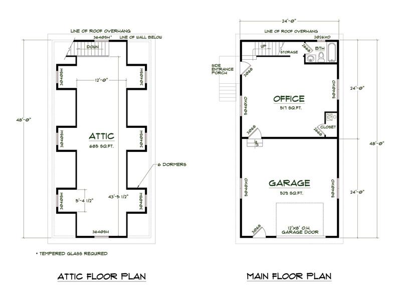 Medeek design plan no shop4824 a6db for Shop construction plans