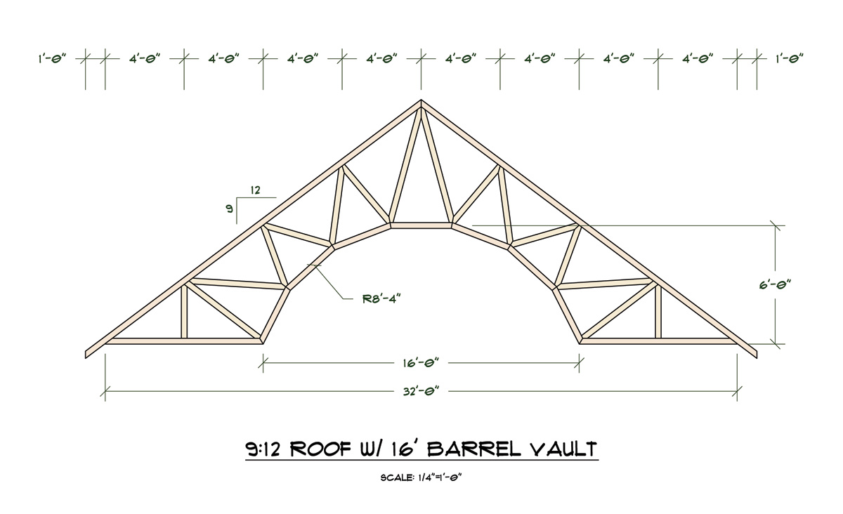 barrel vault trusses truss engineering design