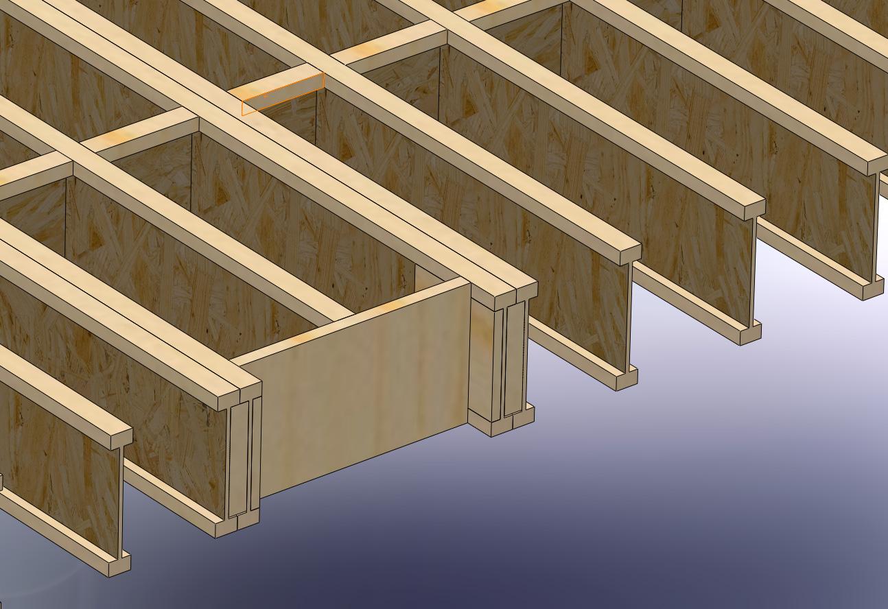 Workshop studio stanwood wa for Floor trusses vs floor joists