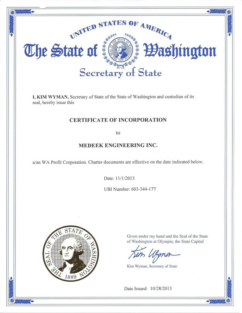 Medeek Design Inc  - Licensing & Corporate