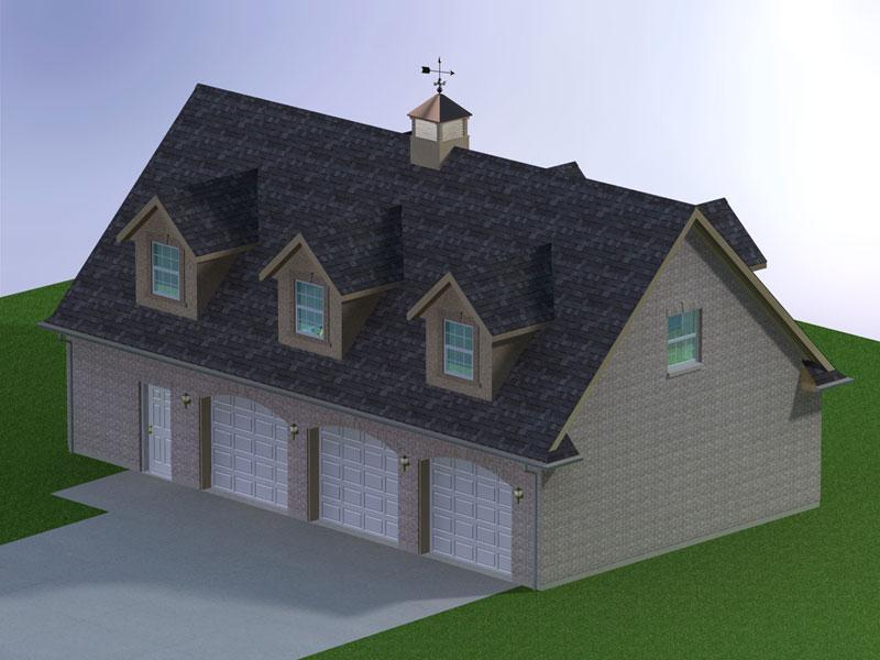 Plan    GARAGE4828 A6D 3B  Brick Garage. Medeek Design   Plan No   GARAGE4828 A6D 3B